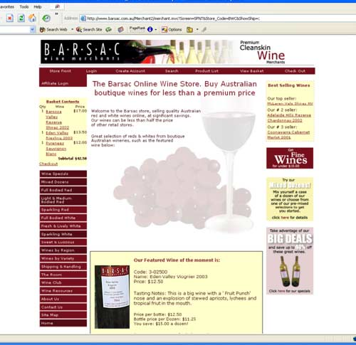 An Online Store And Shopping Cart With Australian Payment Processing - What is invoice best online wine store